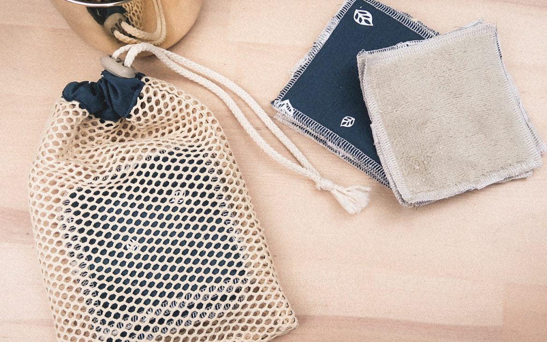 Lingettes réutilisables et Filets de lavage, zero dechet