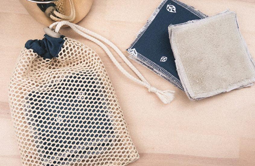 Zero dechet : filet de lavage et lingettes reutilisables
